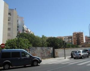 Calle exterior de la zona de actuación del PAI adjudicado a promotores y sancionados por el retraso