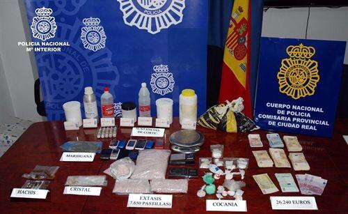Policia Nacional. Drogas