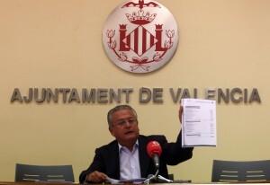 Silvestre Senent en la rueda de prensa que realizó el pasado jueves