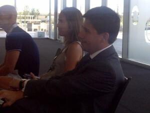 El gerente del Consorcio, Pablo Landecho, asistió al acto