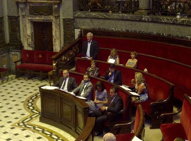 El portavoz de Compromís, Joan Ribó, interviene en un momento del pleno de hoy/vlcciudad