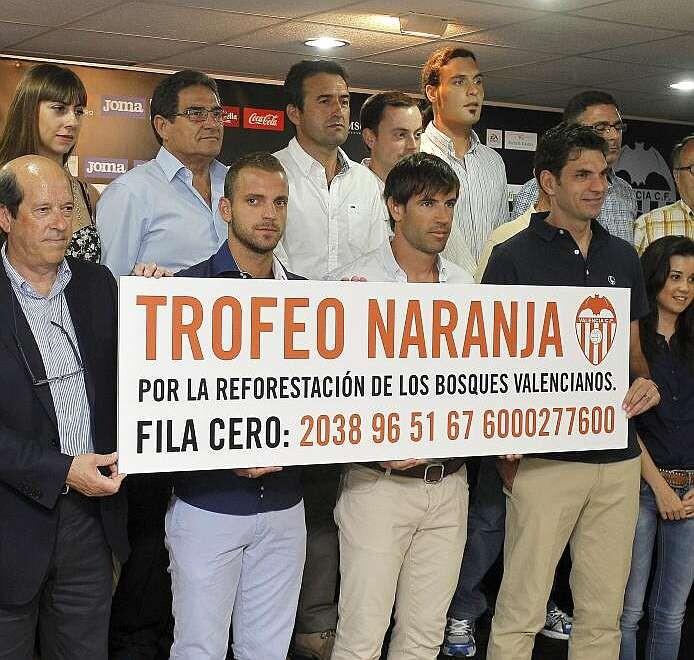 Valencia CF. Trofeo Naranja. Incendios forestales