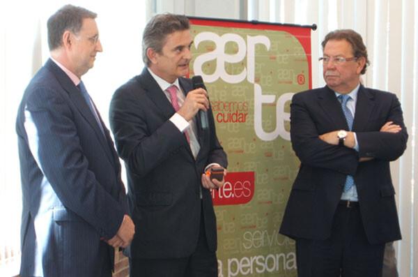 Alberto Giménez, presidente de Aerte a la derecha