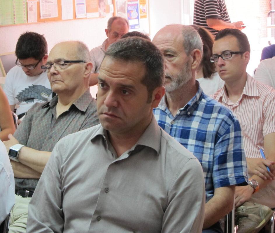 Amadeu Sanchis en la rueda de prensa de Benicalap