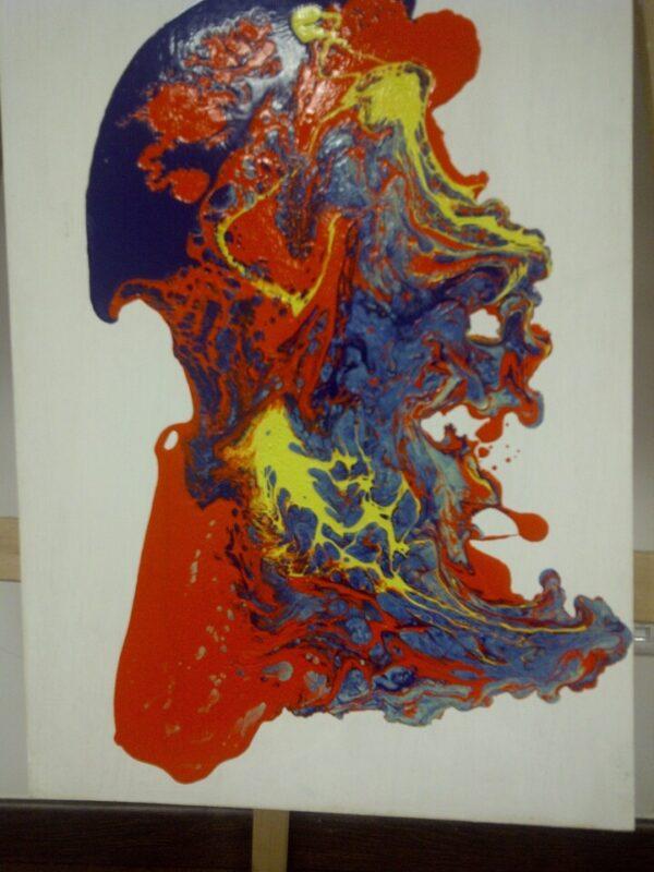 Pintura de nombre ¨El Siluro¨ obra de Julio Andújar