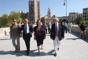 Los ediles Bernal, Novo y Ramón Isidro Sanchis acompañaron a la alcaldesa