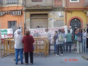 Una protesta en el barrio del Cabanyal/entesa