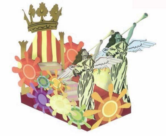 Carroza donde estarán las reinas de las casas regionales