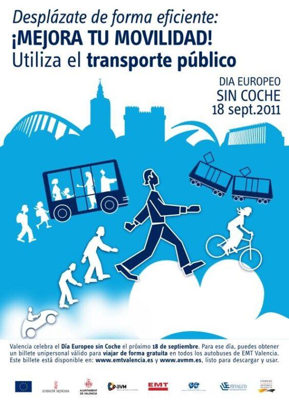 Cartel Día Europeo Sin Coche 2011