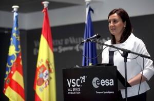 La consellera Catala durante la inauguración del nuevo laboratorio