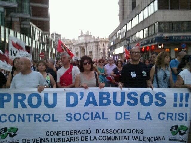 La confederación vecinal estuvo presente en la manifestación