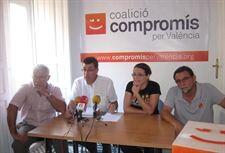 Ribo, Morera, Oltra y Ponce en la rueda de prensa de hoy