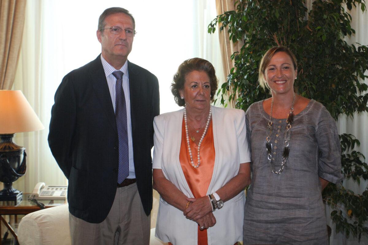 El nuevo responsable de Costas, la alcaldesa y la edil de Playas