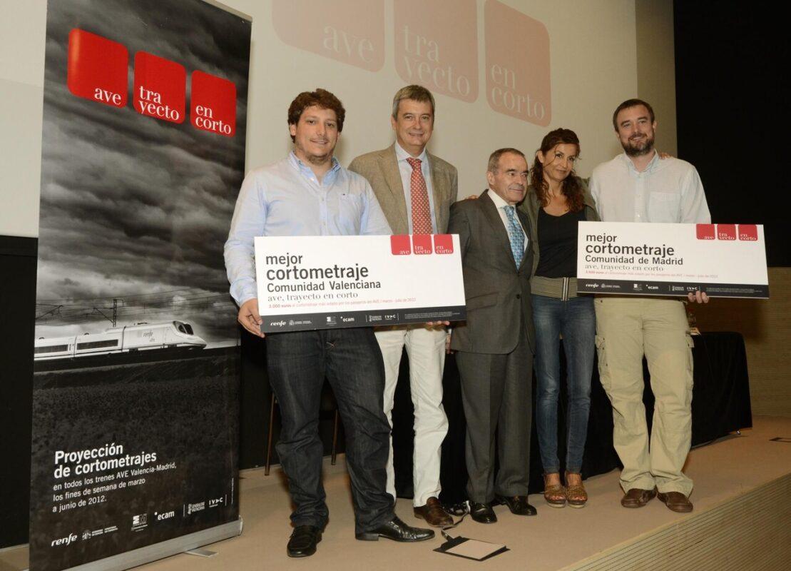 Entrega de los premios Renfe en Corto