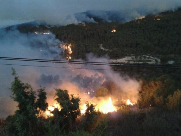 fuego incendio en andilla