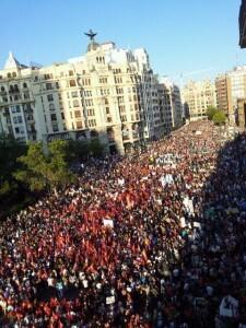 Más de 260.000 personas participaron en la manifestación