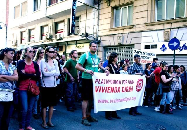 Manifestación de la plataforma por una vivienda digna