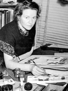 La artista Manuela Ballester