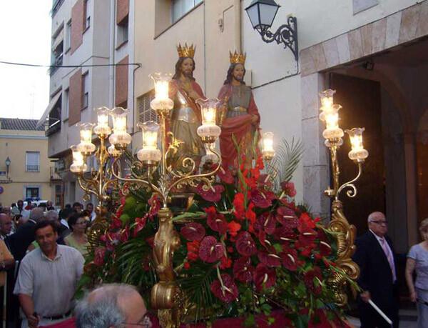Los patronos de Massarrojos Abdón y Sennet, santos de la piedra