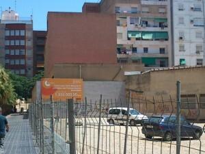 Zona donde se va a construir el centro de mayores en Monteolivete