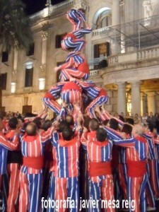 La Muixeranga durante la Cabalgata Folklórica de Fallas de 2012