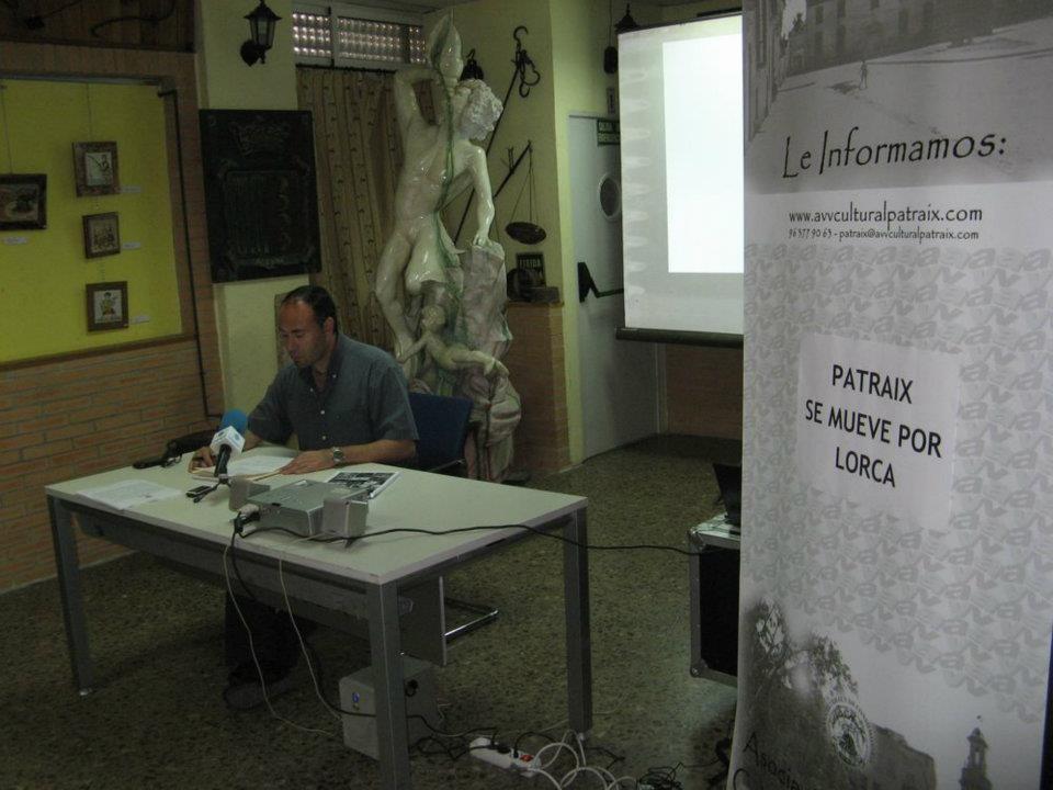 El presidente de los vecinos de Patraix en la presentación de la campaña de Lorca