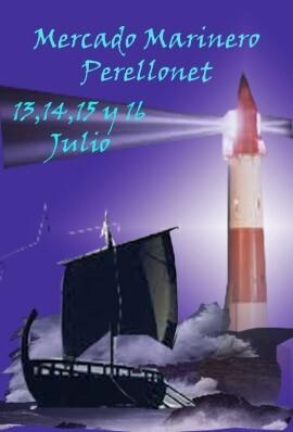 Cartel del mercadillo marinero de El Perellonet