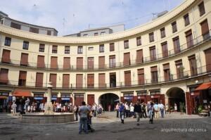 La plaza Redonda sin la cubierta en una figuración de un estudio de arquitectura
