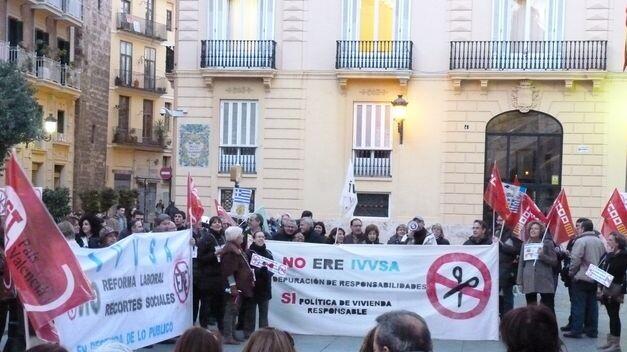 Protestas de los trabajadores del IVVSA