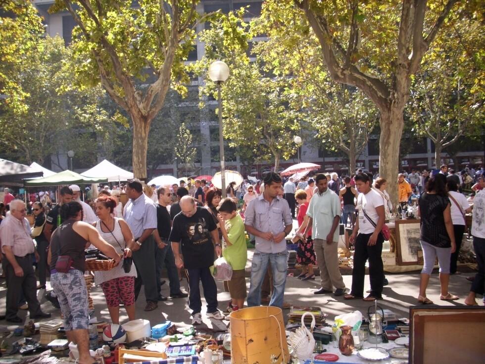 Una zona del rastro donde se iban a vender los objetos robados