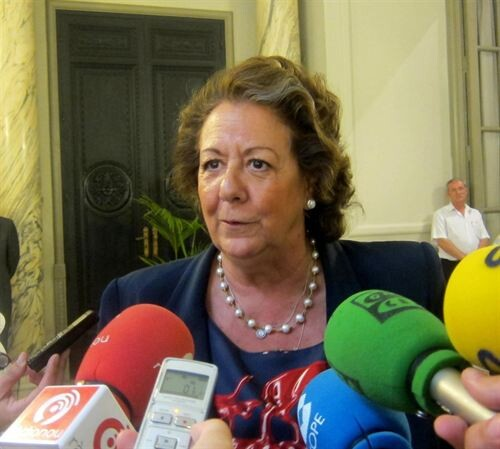 La alcaldesa, Rita Barberá