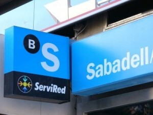 Logo de un banco Sabadell