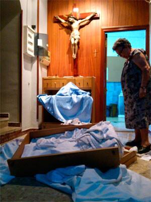 La sacristía de San Isidro, totalmente revuelta por los delincuentes