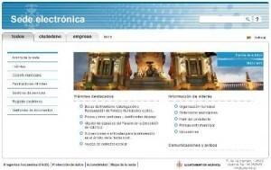 Imagen de la web de la sede electrónica del Ayuntamiento de Valencia