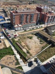 Vista aérea de la zona de la calle Ingeniero José Sirera que se abrirá y se mejorará la conexión del barrio de San Marcelino