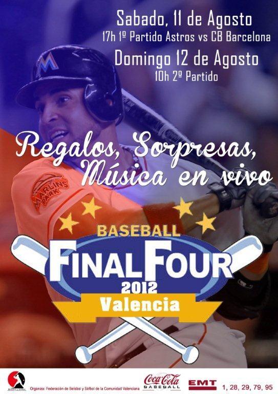 Cartel oficial de la final del campeonato de béisbol en Valencia