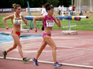 Beatriz Pascual es una de la veintena de atletas que acuden a Pamplona/julio fontán