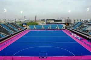 El Riverbank Arena que ha tomado ejemplo del color del campo del polideportivo del Betero