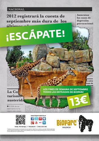 En septiembre escápate a Bioparc Valencia por 13 euros