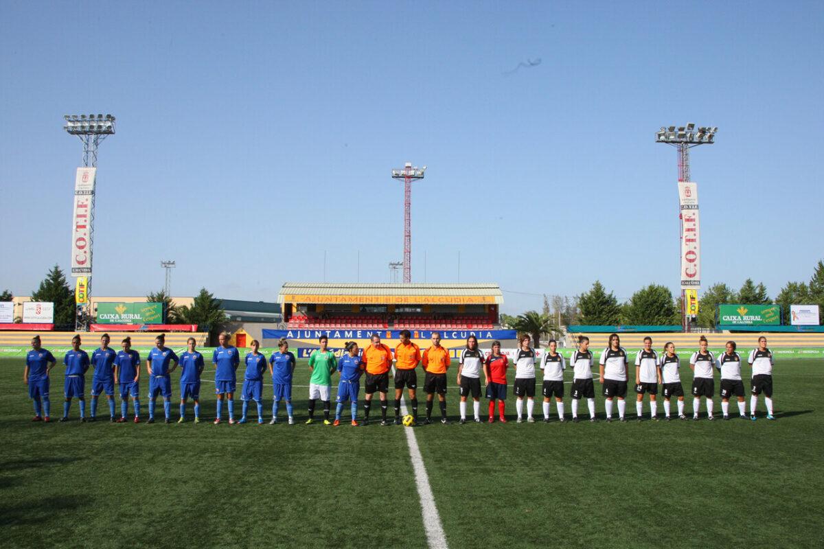 Partido inagural disputado entre el Valencia CF y el Mislata CF