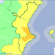 Mapa de avisos sobre fuertes lluvias para mañana/aemet