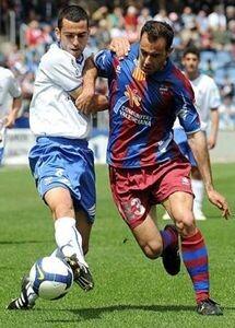 Ángel Sánchez en un lance durante un encuentro de la Liga Española