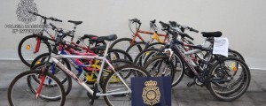 Un grupo de bicicletas recuperadas por la Policía Nacional en Torremolinos/diario sur