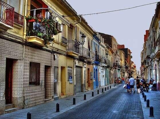 Una calle del barrio del Cabanyal/infopunt