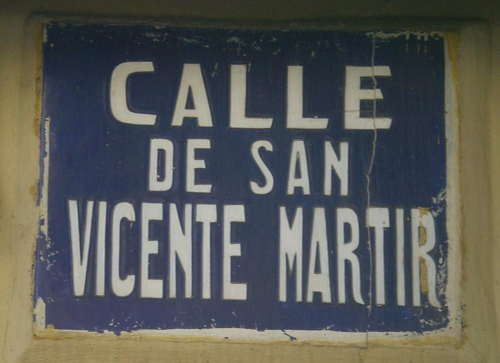 Rotulo de la calle San Vicente Mártir/calleshistóricas