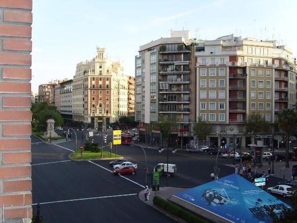 Una vista de la Gran Vía Ramón y Cajal en la zona centro de la ciudad