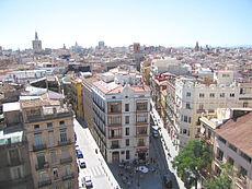 Una vista aérea del barrio de El Carmen