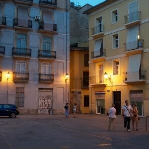 Una plaza del barrio de El Carmen en Ciutat Vellla