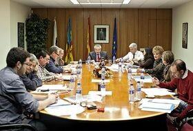 El consejo de administración de RTVV en una de sus últimas reuniones