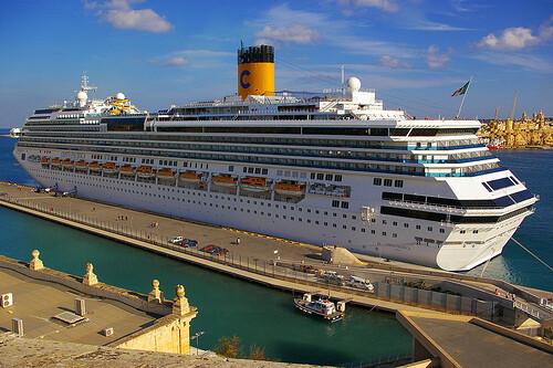 El crucero Costa Pacífica atracará junto a otros dos grandes buques el 9 de septiembre